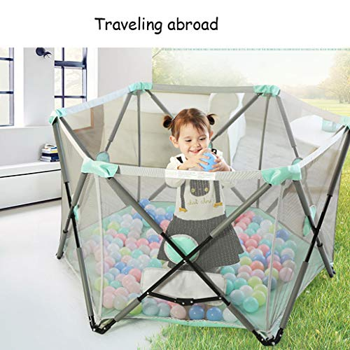 Playpen Tent Baby Safety Gate Portable & Travel Kids Ball Pit Playpen Ball Pool,Indoor and Outdoor Easy Folding Play House Play Space for Children Baby (Excluding The Ball) by CGF- Baby Playpen (Image #4)