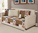 Fancy Collection 5 Pc Daybed Quilted Bedspread Floral Beige Green Purple Taupe Blue New