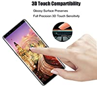 Galaxy Note 8 Screen Protector, Full Coverage Screen Protector, Tempered Glass 3D Curved HD Clear Anti-Bubble Film for Samsung Galaxy Note 8 [2 pack,Black] by AsianiCandy