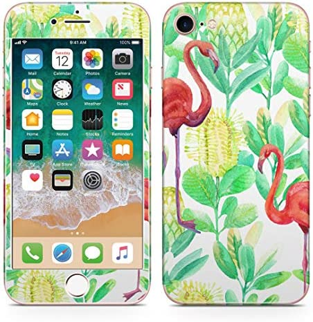 igsticker iPhone SE 2020 iPhone8 iPhone7 専用 スキンシール 全面スキンシール フル 背面 側面 正面 液晶 ステッカー 保護シール 014017 フラミンゴ アニマル 動物