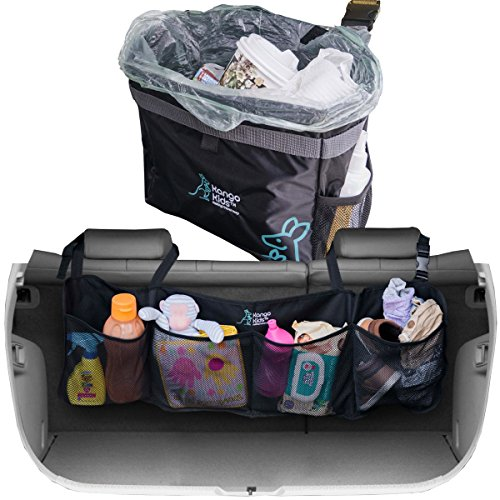 [Premium Quality Auto Trunk Organizer and Waterproof Car Trash Bag. Durable Storage to Keep your Car and Trunk Organized and Clean with Adjustable Straps. Hanging Garbage Can including Storage] (Bag Of Trash Costume)