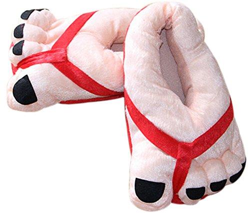 Beige Anti Pantoufles Doux 5 et 41 Chaussons Femmes Noir hiver Paire Homme verges et Rouge Automne Couple et Coton Convient pour orteils de 1 Dérapant Chauds Bricolage 35 Demarkt D'intérieur Pantoufles TCOqYwv