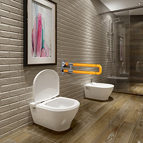 Handicap toilet rails foldable skid resistance handicap - Handicap bars for bathroom toilet ...