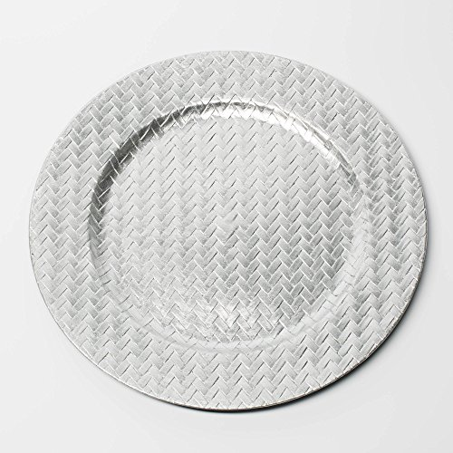 Richland Charger Plate 13'' Woven Silver Set of 12 by Richland