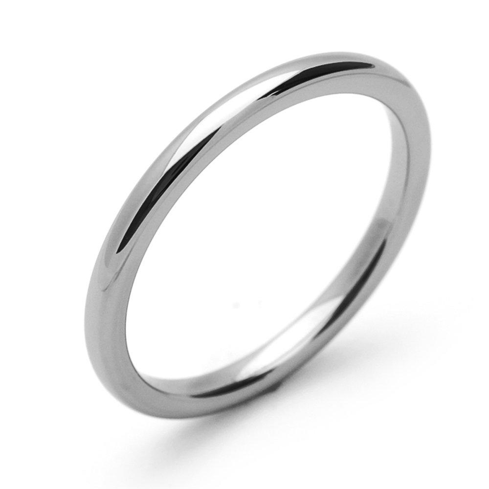 Pequeños Tesoros - 2MM Carburo De Tungsteno - Anillo De Matrimonio Hombres Mujeres Libre de cobalto: Amazon.es: Joyería