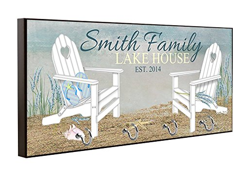 Personalized Lake House Key Holder, Key Hanger, Wall Key Rack, Wall Key Holder, Key Holders, Personalized Gift, Home, Housewarming Gift