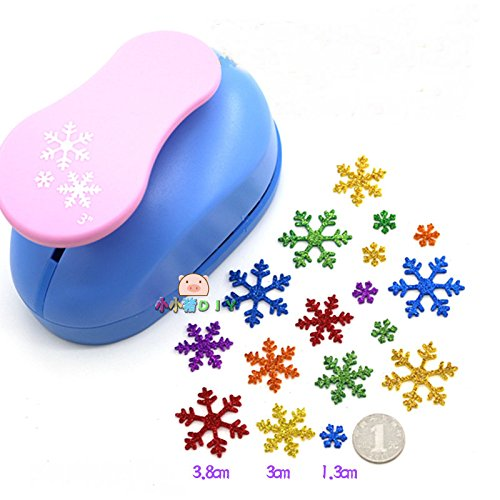 3 inch Christmas snow paper punch 3 pieces of snowflake for eva punch for DIY Album craft punch scrapbook paper cutter