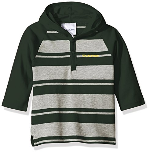 NCAA Oregon Ducks Toddler Boys Rugby Long Sleeve Hooded Shirt, Size 2, (Oregon Embroidered Long Sleeve)