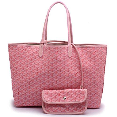 for-everest-ladies-pu-leather-large-size-tote-shopper-shoulder-bag-handbagc3