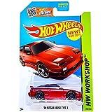Hot Wheels 2015 HW Workshop '96 Nissan 180SX Type X 205/250, Long Card by Mattel