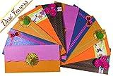 Desi Favors Handmade Paper Envelopes, Cash Envelopes for Weddings/House Warming/Birthdays/Parties (Regular)