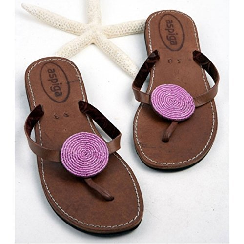 403c693411aa Amazon.com  Women disc thong sandals Sandy reef thong flip flops Beaded  disc flip flops  Handmade