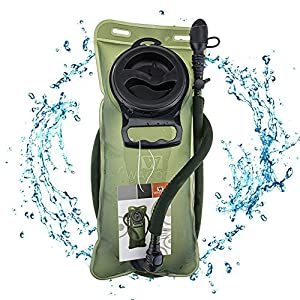 WACOOL 2L 2Liter 70oz TPU Running Cycling Hiking BPA Free Hydration Pack Bladder, Leakproof Water Reservoir, FDA Approved.