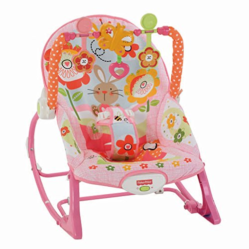 Fisher-Price Silla Mecedora para Recién Nacido o Bebé Grande, Diseño de Conejito