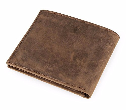 brown short brown men's European wallet NHGY wallet Light American Leather and TYZ410q