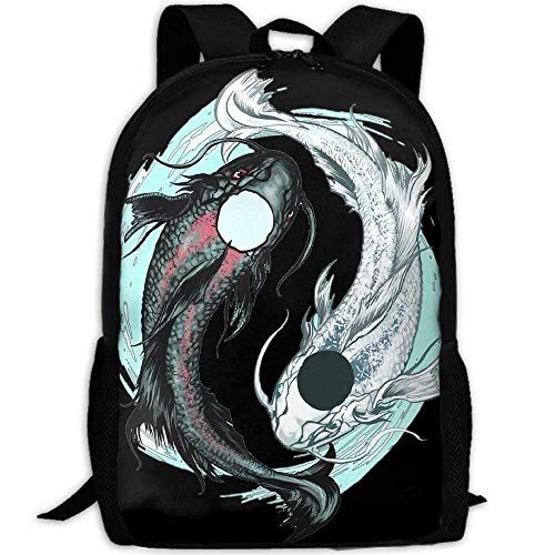 Backpack Koi Fish Tattoo Design Womens Laptop Backpacks Scho