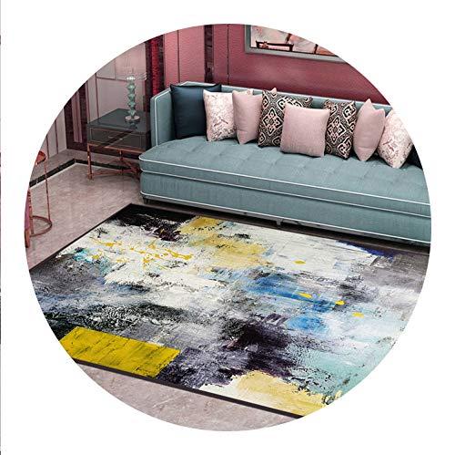 Nordic Style Geometric Pattern Carpet Large Size Living Room Bedroom Tea Table Rugs,8,80x100cm