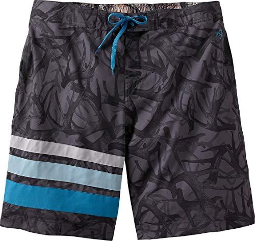 Legendary Whitetails Men's Iron River Swim Trunks Grey Antler Camo 3XL