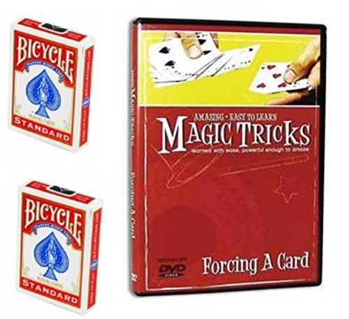 Amazing Easy to Learn Magic Tricks: Force a Card Bundle - Includes DVD, Special Bicycle Svengali Deck and Regular Bicycle Deck