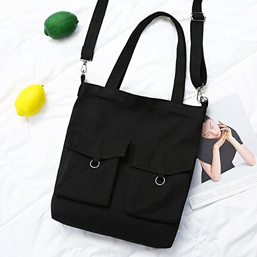 Shoulder Handbag Cutogain Shopping Tote Women Students White Travel Canvas Reusable Grocery Foldable Bags qgOwgIrP