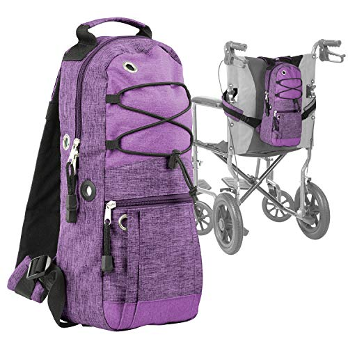 Vive Cylinder Backpack - Tank Carrying Accessories Bag - Holder Medical Case For Wheelchair, Shoulder, Rollator Walker, Scooter - Portable Storage Carrier For Travel - Adjustable Fit M2, ML6, M7 A - C