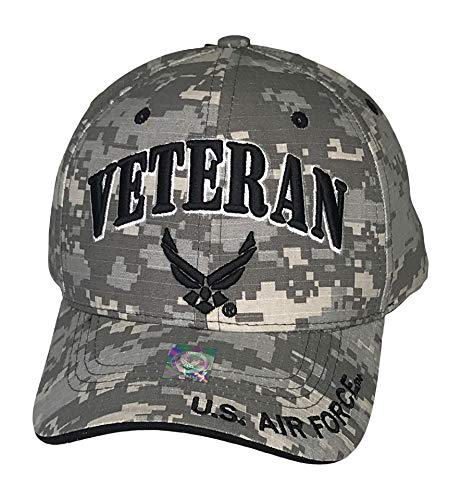 Prfcto Lifestyle Officially Licensed Veteran US AIR Force Baseball Cap Military Hats - Caps for Veterans (Digital Camo)
