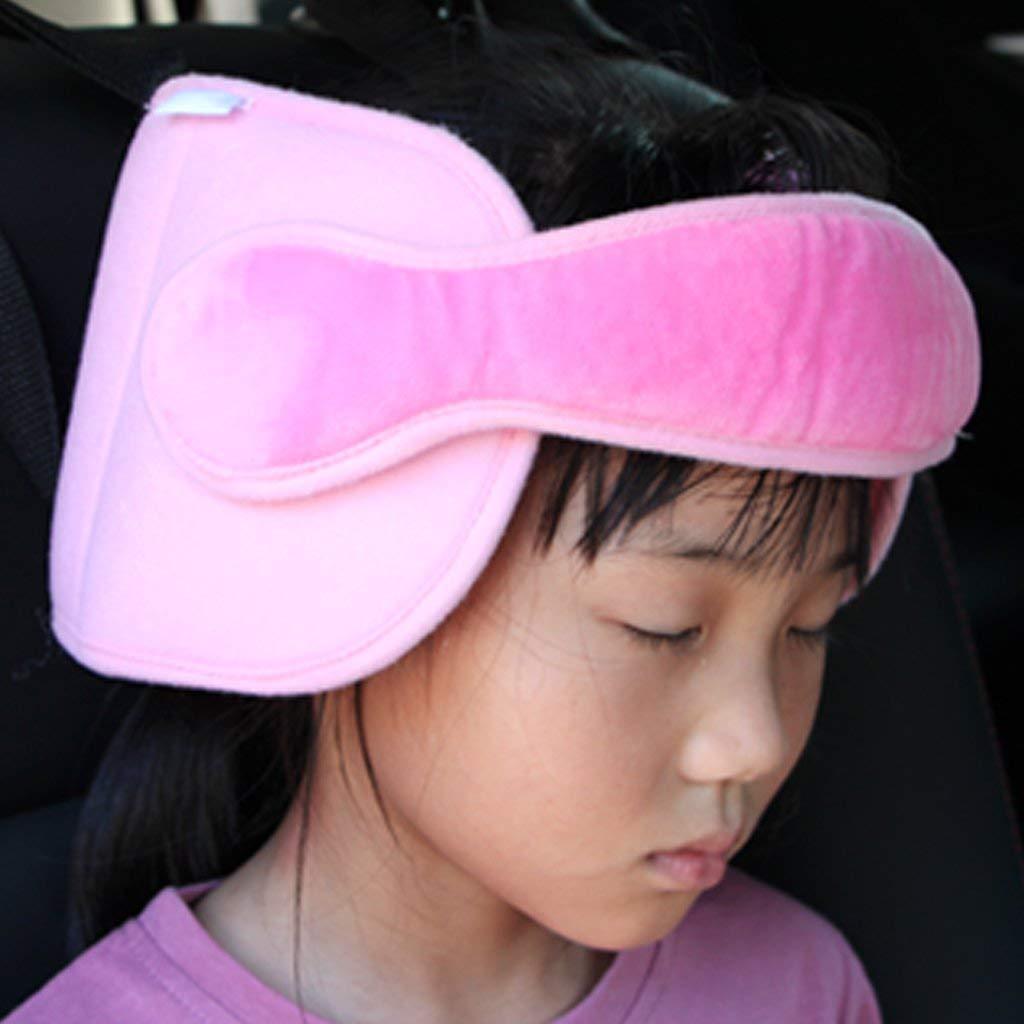 INCHANT Banda de soporte para la cabeza del asiento de seguridad para ni/ños ajustable alivio del cuello del asiento de seguridad para el autom/óvil Soluci/ón c/ómoda para dormir:rosa