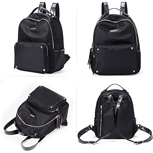 Leather for Handbags Black a Daypack Girls Women's Backpack Ladies Mini Genuine Casual Blue Vintage NAWO amp; qRwz84t4