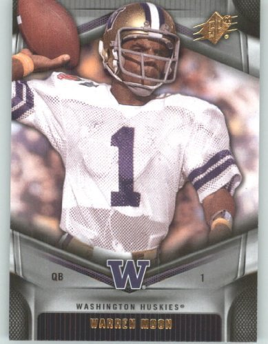 2012 Upper Deck SPx Football Card #50 Warren Moon - Washington Huskies - Houston Oilers - NFL - NCAA Legend