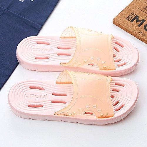 ciabattine perdita chiaro domestico sandali Rosa balneazione cava Flip di MONAcwe di slittamento home sandali e maschio Flop dei luce acqua pantofole pantofole interna giovane la di estate femmina bagno wH6ft