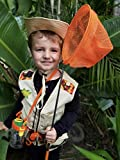 Safari Kidz Outdoor Adventure Set - Perfect Safari, Hunting, Park Ranger Costume with Vest, Hat, Binoculars, Bug Net, Bug Container, Whistle, Flashlight, Magnifying Glass, Tweezers