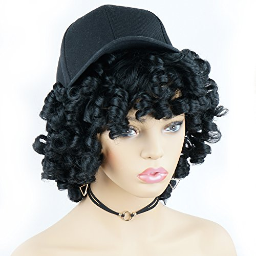 Short Afro Curly Synthetic Hair Wigs for Black Women - Import It All c40e3bab0