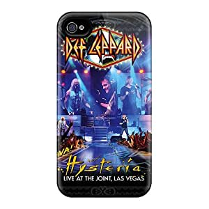 Iphone 4/4s CbI17671FQox Support Personal Customs HD Def Leppard Band Image High Quality Cell-phone Hard Covers -DannyLCHEUNG