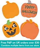Baker Ross Halloween Pumpkin Foam Art & Craft Shapes for Children to Decorate and Display (Pack of 10)