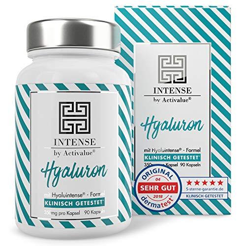 +++Testurteil SEHR GUT+++ ACTIVALUE Hyaluintense Kapseln - - 90 Kapseln mit je 350mg reiner micro-molekularer Hyaluronsäure (500-700 kDa), 100% vegan, in Deutschland hergestellt