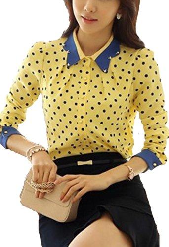 Women's Bottoming Shirt Beaded Jacket Long Sleeved Chiffon Shirt