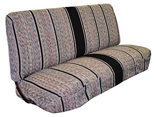 Bench Seat Cover Fits Chevrolet, Dodge, Ford Trucks (Black) ()