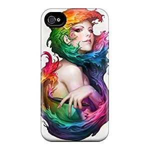 New Diy Design Colorful Paint Fantasy For Iphone 4/4s Cases Comfortable For Lovers And Friends For Christmas Gifts