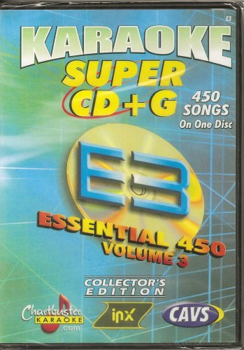 CHARTBUSTER SUPER CD+G Volume #3 - 450 CDG Karaoke Songs Playable on CAVS System or on your PC DVD player using (Vol 3 Karaoke Dvd)