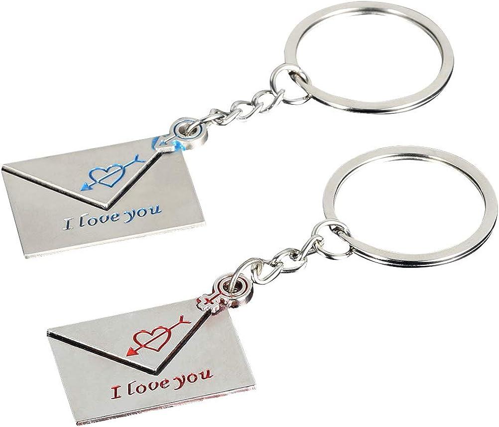 TENDYCOCO 1 par de amantes de la pareja en forma de llavero con forma de sobre regalo de amor de San Valent/ín