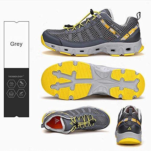 Sneaker Sunjcs Water Women's Grey men Dry Sports Shoes Walking Trainer Shoes Aqua Quick Men's Shoes xrXrgn1wqC