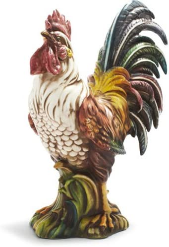 Sur La Table Italian Hand-Painted Ceramic Rooster M133 DP, 2634