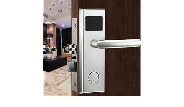 Smart Swiping tarjeta de RFID cerradura de puerta Digital Inteligente habitación de hotel apartamento puerta de seguridad para tarjeta de 2 pcs + 2 pcs mecánico Llave de cierre y # xFF08;