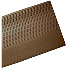 MASTER STOP 5136006 STAIR TREAD SQ NOSE 36 IN BROWN. Brown, General, molded vinyl ribbed design stair tread.