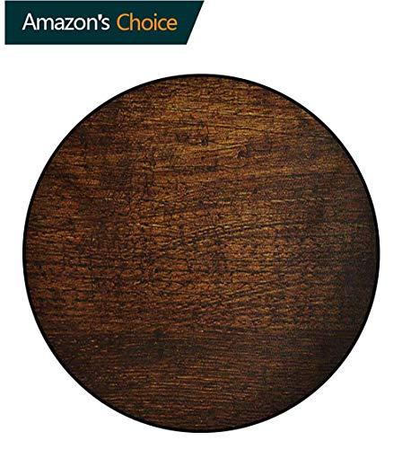 - RUGSMAT Wooden Super Soft Circle Rugs for Girls,Old Vintage Antique Timber Oak Background Rustic Floor Artisan Photo Print Baby Room Decor Round Carpets,Round-63 Inch Chestnut and Brown