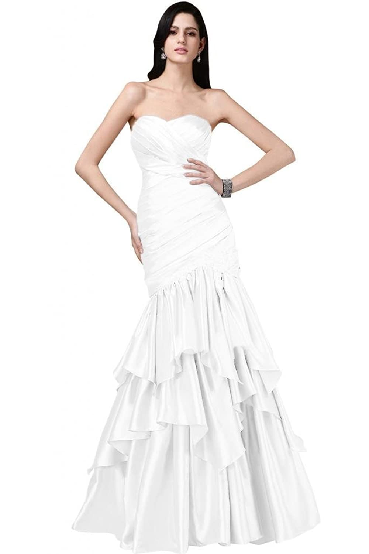 Luxurious Sweetheart Mermaid Ruffled Taffeta Evening Dress Custom-made