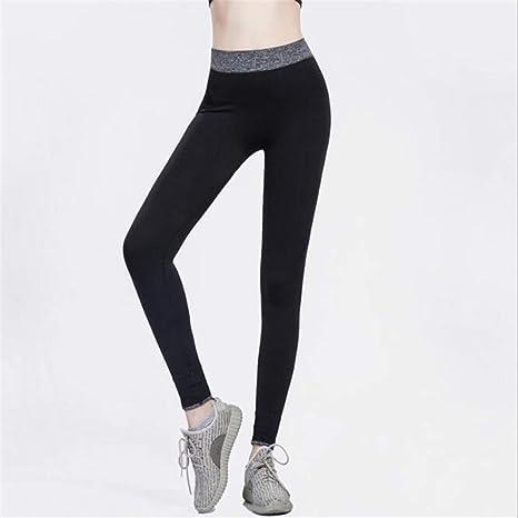 358baa7b73a1a1 Leoie Women Sexy Elastic Yoga Sports Pants Wicking Force Exercise Quick-Dry  Leggings Black M