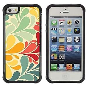 LASTONE PHONE CASE / Suave Silicona Caso Carcasa de Caucho Funda para Apple Iphone 5 / 5S / Wallpaper Pastel Teal Yellow