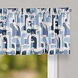 Glenna Jean Dino Blue Curtain Valance 70'' W x18 H for Kids Window