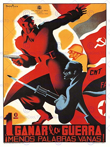 WAR PROPAGANDA SPANISH CIVIL CNT COMMUNIST ANTI FASCIST SPAIN POSTER ART 2786PY (Posters Anti War Propaganda)
